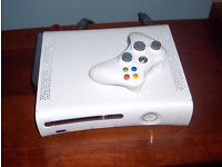 WHITE X-BOX 360 CONSOLE WITH 1 CONTROLLER