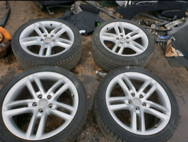 Audi a4 b8 a5 a6 18 inch alloy wheel with good tyres