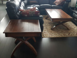 2-Piece Wood Coffee Table Set