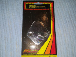 Proform Chrome Fuel Pump Block Off Plate with Gasket. NEW.  $10