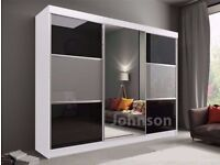 ★★FREE AND QUICK DELIVERY ★★ NEW RUMBA GERMAN 2 DOOR SLIDING WARDROBE WITH FULLY MIRRORED