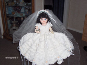 BRIDE DOLL WITH CROCHET DRESS