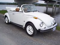 beetle convertible 1979  , blanche