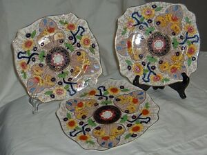 Royal Staffordshire circa 1930-1940s set of 3 plates Cairo 8920