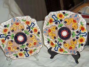 Art Deco style Royal Stafordshire hand painted plates Cairo 8920 West Island Greater Montréal image 1