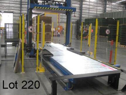 2014 MOSCA KCK-121-22 AUTOMATIC PALLET STRAPPING MACHINE