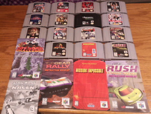 Assorted N64 Lot with Game Cartridges and Manuals