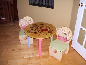 Table et chaises originales pour enfants!