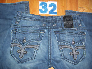 Lot of 3 Pairs of Rock and Revival Mens Jeans