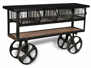 INDUSTRIAL CONSOLE TABLE COFFEE TABLE SIDE TABLE