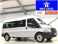 FORD TRANSIT MINIBUS 14 SEATER LOW MILEAGE 10,000 2.2TDCi 135PS 350 3.5T SILVER