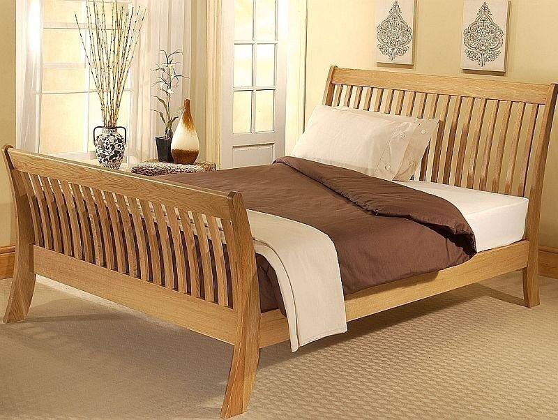 Super King Sized Oak Sleigh Bed In Chelmsford Essex