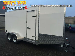 7' x 14' Tandem Axle Cargo Trailer • 7' tall! • Made in Canada