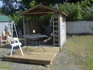 Newly Built 6 ft x 9 ft Shed &  6x6 deck. Finish to your liking