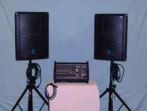 Yorkville M1610 Pwr Mixer Package PA system  ELITE speakers Windsor Region Ontario image 1