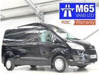 FORD TRANSIT CUSTOM TREND L2H2 LWB HIGH ROOF BLACK LONG WHEELBASE 125BHP