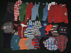 Huge lot of boy fall/winter clothes size 12-18 m