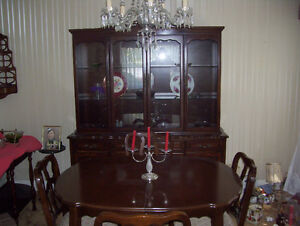 Estate Sale Andrew Malcolm dining room table and chairs