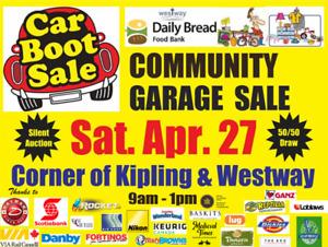Spring Community Car Boot Garage Sale Sat. April 27