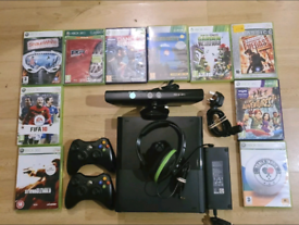 Microsoft Xbox 360 320 GB Games E Console,10 Games, 2 Pads, Kinect and
