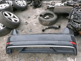 Audi a3 8v facelift rear bumper black 16-19