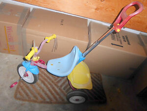 Radio Flyer trike with parent handle, good condition