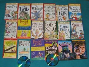 Roald Dahl Book Collection some with audio CDs and DVDs