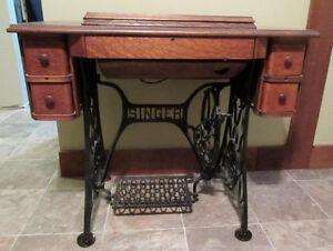 Antique Singer tredle sewing machine