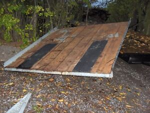 snowmobile trailer bed