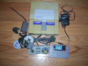 Super Nintendo SNES System with Super Mario + all Hookups