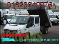 FORD TRANSIT 2.2TDCI T350L 100PS 6 SPEED DOUBLE CAB TIPPER 1 OWNER F/S/H