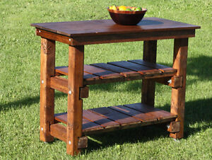 Rustic Kitchen Island - Made of Solid Wood