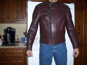 Drospo Taurus mens motorcycle leather jacket, size 42