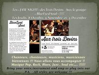 """Soirée """"Jam Nights"""" au Resto Bar Trois Devins de Lachine !!!!"""