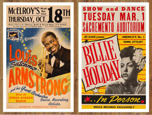 Collection of 20 JAZZ MUSIC POSTERS Louis Armstrong, Coltrane ++