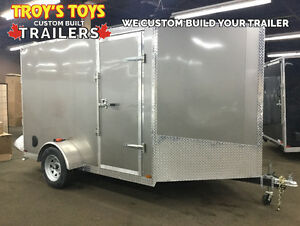 2017 7'x10' V-Nose Cargo Trailer - CANADIAN MADE