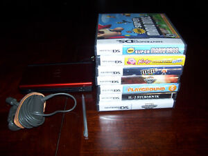 Nintendo DS System with 7 Games Mario + Kirby and More