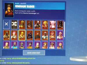 Pretty stacked fortnite account with Renegade raider
