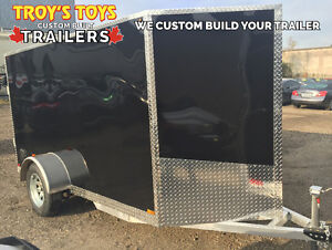 Aluminum 5' x 10' V-Nose Cargo Trailer • Canadian Made