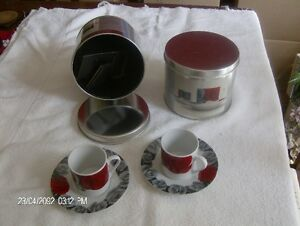 4 Mantles Expresso Cups and Saucers