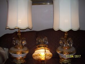 Set of (3) E K 1972 Matching Vintage Lamps $230.00 OBO