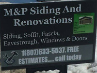 Siding soffit fascia eavestrough window doors roofs we do it all