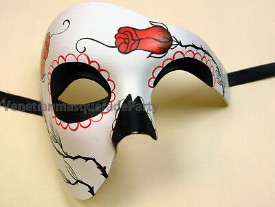 Masquerade Ball Phantom day of the dead Halloween Costume Prom Party Eyes Mask - The Halloween Ball