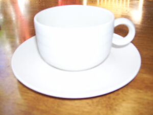 """Hornsea """"Concept"""" cups and saucers (8)"""