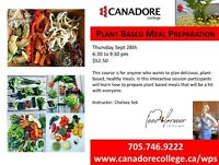 Cooking Class: Plant Based Meals, Canadore, Parry Sound