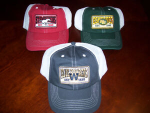 Total of 3 CFL Hats Eskimos Calgary and Winnipeg New with tags