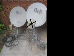 1 bell @ 1 direct dish all with mounting poles and plates