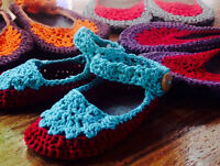BEAUTIFUL MADE TO MEASURE CROCHET SHOES (mile end)