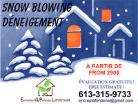 Snow Removal, Snow Blowing, Déneigement, Grass Cutting,