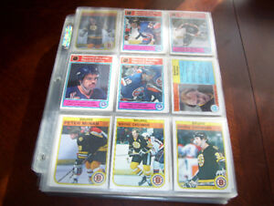 OPC 1977-78 1982-83 86-87 88-89 NEAR HOCKEY CARD SETS